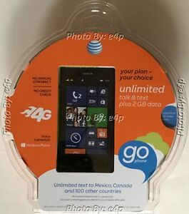 NOKIA LUMIA 520 AT&T GOPHONE SMARTPHONE GSM NO CONTRACT PREPAID BRAND NEW SEALED