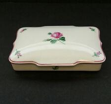 WIENER AUGARTEN Vintage WIEN Porcelain PINK VIENNESE ROSE Classic Jewelry Box