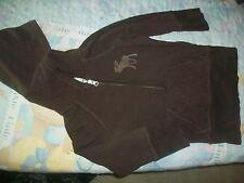abercrombie kids Button Up Sweatshirt Size S Brown