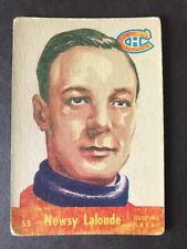 1955-56 PARKHURST #55 NEWSY LALONDE (ROOKIE CARD) VG