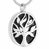 Stainless Steel Tree Of Life Cremation Pendant Urn Jewelry Pet Ashes Human