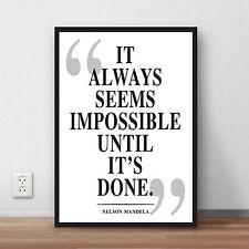 Nelson Mandela QUOTE art print - poster print inspiration motivation inspiration