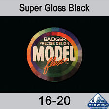 Badger MODELflex Paint - 16-20 Super Gloss Black