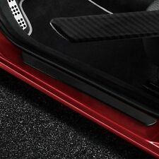 Door Sill Cover Panel Step Protector Guard 49CM 2pc Carbon Fiber Car Scuff Plate