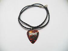 "Slipknot Guitar Pick Plettro Collana in pelle intrecciata 20"""