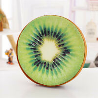 Round 3D Donut Fruit Soft Plush Cushion Pillow Sofa Pad Toy Seat Chair Mat Decor