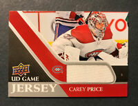 2020-21 Upper deck Series 1 UD Game Jersey Carey Price Montreal Canadiens #GJ-CP