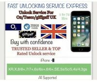 UNLOCK iPhone FAST✅02/GiffGaff/tesco Uk✅iPhone X,XR,8,7,6s,6,SE To 3G✅3-72HRs✅✅✅