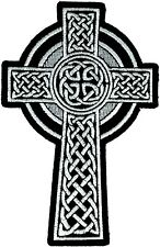 Celtic Cross Embroidered Iron Sew on Patch Christian Badge Biker Ireland
