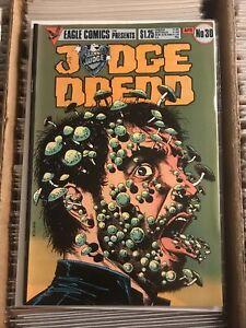 JUDGE DREDD #30 BRIAN BOLLARD MUSHROOMS PSYCHEDELIC COVER eagle comics 1986