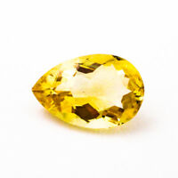 Loose 15x10mm Natural Citrine Pear Cut Gemstone