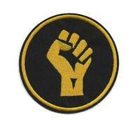 Raised Fist Iron-On Patch: Solidarity Unity Power Resist Black Lives Matter BLM