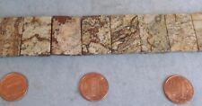 Double drilled Picture Jasper Rectangle Beads 20x30mm Semi Precious Stone 6 piec