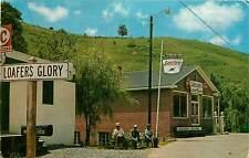 North Carolina, NC, Loafers Glory 1965 Chrome Postcard Sinclair Sign