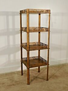 Baker Furniture Company Antique Burnished Gold Freestanding Etegere