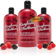 3x I Love... RASPBERRY & BLACKBERRY Bubble Bath Shower Creme Gel 500ml