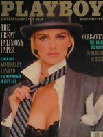 Playboy August 1988   Kimberley Conrad Heffber Helle Michaelsen   #987 +