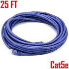25ft Cat5E RJ45 Patch Cable UTP Stranded Network LAN Ethernet Cat5 Wire Purple