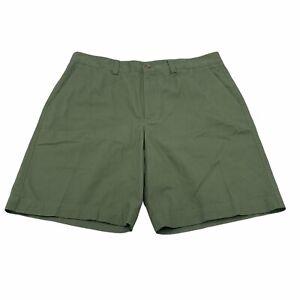 NEW Van Heusen Mens Size 36 Green Flat Front Shorts 9 1/2 Inseam
