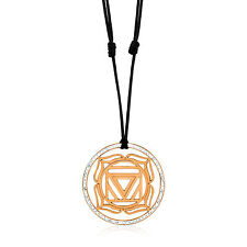 Kuzzoi radice chakra Yoga rimorchio 925 rotvergoldet con Swarowski-Cristalli