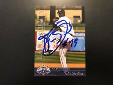 Felix Sterling In Person Signed 2012 Lake County Captains Team Set Card