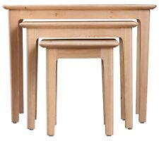 NORMANDY OAK NEST OF 3 TABLES / COFFEE TABLE / END UNIT / 65CM X 38CM X 50CM