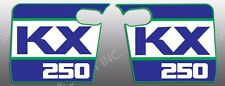 KAWASAKI 1988 88 KX250 KX 250 SHROUD DECALS GRAPHICS STANDARD OEM THICK LIKE NOS