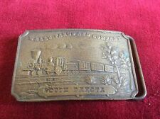 Vintage Wells Fargo And Company South Dakota Brass Belt Buckle 1