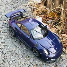 WELLY 1:24 Diecast Car Model - 2016 Porsche 911 GT3 RS Sports Car Purple Replica