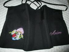 Lady Bug Mushroom Embroidered Server Waitress Apron Diner Name Free Lady Pizazz