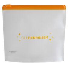 OleHenriksen Opaque Plastic Ziplock Pouch w/Orange Zipper Cosmetic Travel