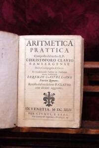 Aritmetica Prattica, Composta Dal Molto R. P. Christoforo Clavio . e Tradotta in