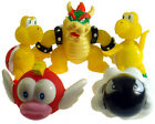 Nintendo Super Mario Brothers Bowser Bullet Koopa Fish Yoshi 5 Figures Toy Set