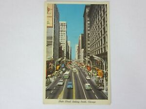 Chicago Illinois State Street Looking North 1966 Postcard