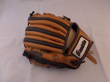 "Franklin 4609 9 1/2"" 9.5"" Baseball Glove Mitt Right Handed Throw Black Tan T-Bal"