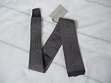 Gieves and Hawkes Brand New with tag Black Knitted tie RRP £90