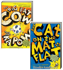 Cat on the Mat is Flat & Big Fat Cow That Goes Kapow (pb) Andy Griffiths 2pk NEW