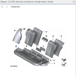 Genuine New BMW  Rear Seat Base Cover 52207292580