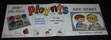 1965 PLAYNTS Toy Store Poster playdoh Rainbow Crafts vintage