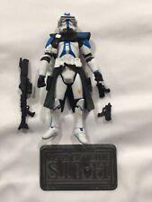 "Star Wars ARC COMMANDER BOW 501st Legion Clone Trooper Order 66 W/ Stand 3.75"""