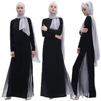 Ramadan Abaya Women Maxi Dress Muslim Robe Dubai Arab Gown Islamic Kaftan Jilbab