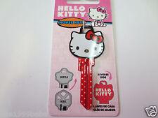 Hello Kitty Head Shape Kwikset KW1 House Key Blank / Sanrio Licensed