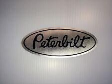 3 Peterbilt Grille Hood Decals brush aluminum vinyl Semi Truck custom stickers