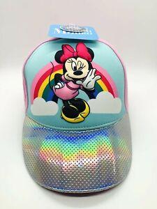 Disney Minnie Mouse Cotton Baseball Cap, Pink, Girls NWT