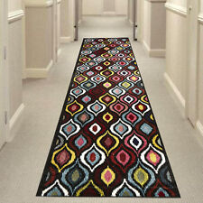 MULTI-COLOURED 506-DAIMOND HALL RUNNER Hallway Carpet Rug NEW 80x400cm