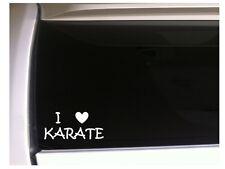 """I Love Karate Car Decal Vinyl Sticker 6"""" L50 Kick Sports Team Fight"""