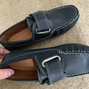 Color : Black, Size : 4.5 UK HYF Mens Loafer Shoes Genuine Leather Low Top Ankle Boots Big Kids Size Available Driving Shoes