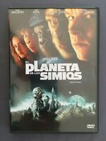 DVD EL PLANETA DE LOS SIMIOS Mark Wahlberg Tim Roth Michael Clarke TIM BURTON