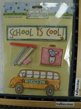 Sue Dreamer SCHOOL'S COOL Stickers COLORBOK BACK TO SCHOOL BUS PENCIL CASE BOOK