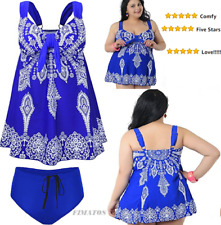 Plus Size Women's Tankini Swimdress Swimsuit Bathing Suit US 26-28W Blue